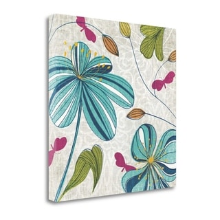 Flowers And Butterflies By Tandi Venter,  Gallery Wrap Canvas