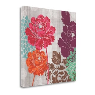 Peony Patterns I By Tandi Venter,  Gallery Wrap Canvas