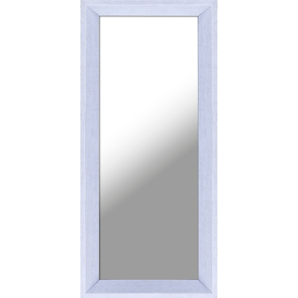 9.5X21.5 Plastic Mirror White, Set of 2 - White