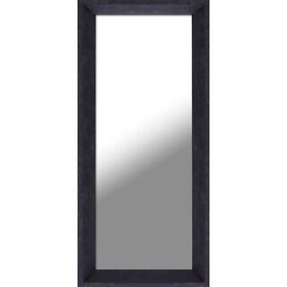 9.5X21.5 Espresso Plain Mirror, set of 2