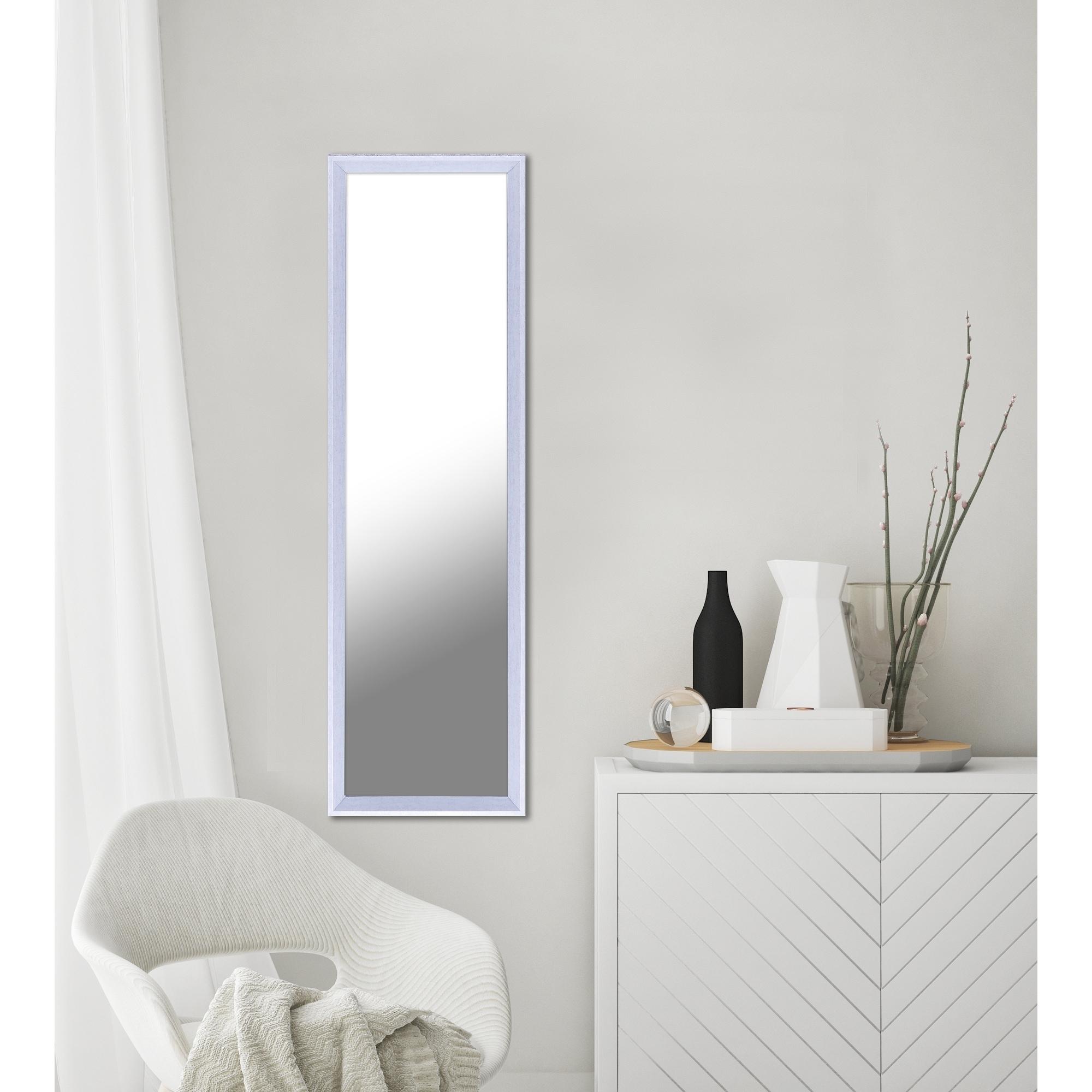 13 5x49 5 White Plastic Door And Wall Mirror Full Length Vanity Hallway Bathroom Bedroom Rectangle Medium Home Decor Overstock 18193740