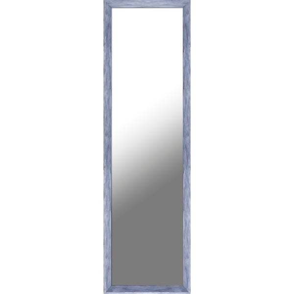 13.5X49.5 Blue Patina Door Mirror, single piece