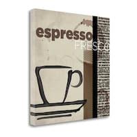 Espresso Fresco By Tandi Venter,  Gallery Wrap Canvas