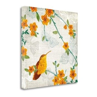 Birds And Butterflies III By Tandi Venter,  Gallery Wrap Canvas