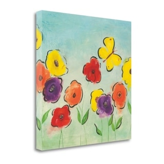 Flowering Garden I By Sarah Horsfall,  Gallery Wrap Canvas