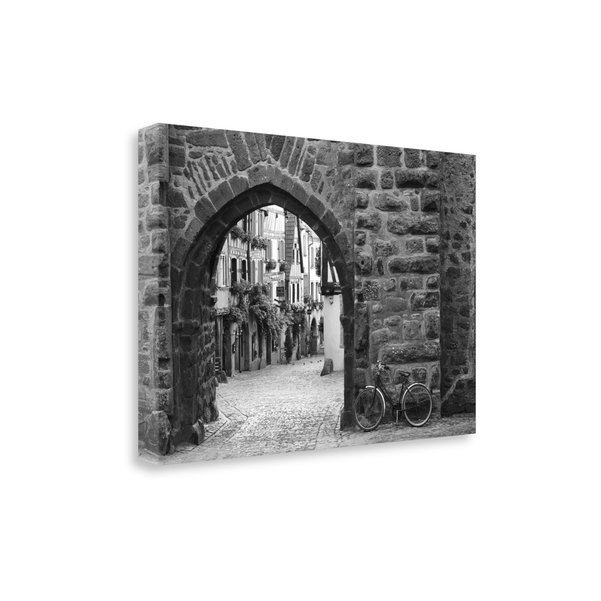 Bicycle of riquewihr by monte nagler gallery wrap canvas