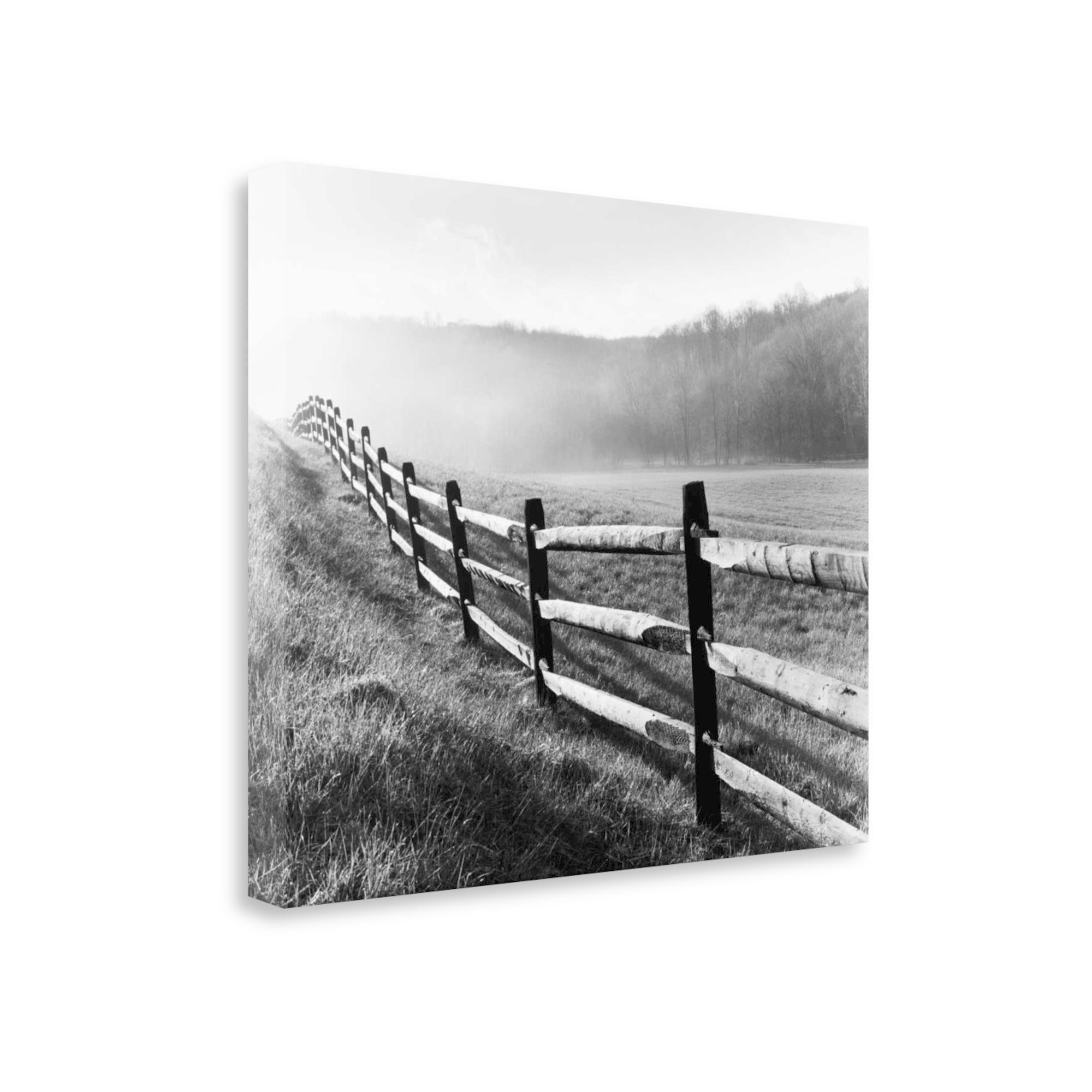 Vanishing fence by monte nagler gallery wrap canvas
