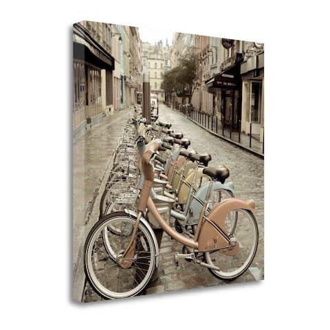City Street Ride Paris by Alan Blaustein, Gallery Wrap Canvas