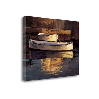 Barcas Al Atardecer By Poch Romeu, Gallery Wrap Canvas