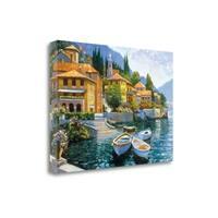 Lake Como Landing By Howard Behrens,  Gallery Wrap Canvas
