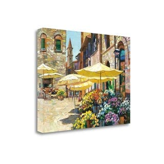 Siena Flower Market By Howard Behrens, Gallery Wrap Canvas