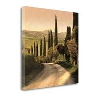 Country Lane Tuscany By Elizabeth Carmel,  Gallery Wrap Canvas
