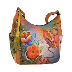 Women's Anuschka Hobo with Side Pocket Premium Floral Safari