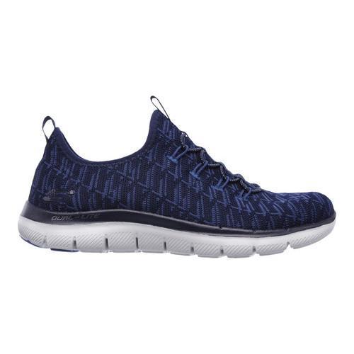 Women's Skechers Flex Appeal 2.0 Insights Walking Sneaker Navy/Blue - Thumbnail 1