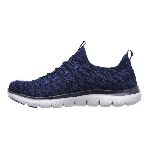 Women's Skechers Flex Appeal 2.0 Insights Walking Sneaker Navy/Blue - Thumbnail 2