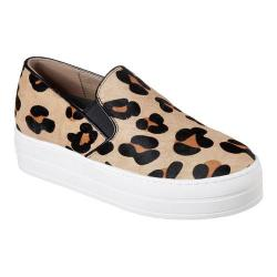 Women's Skechers Uplift Wild Thang Slip-On Flatform Sneaker Leopard