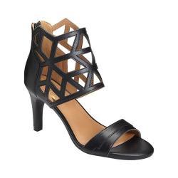 Women's Aerosoles Salamander Heeled Sandal Black Leather