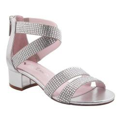 Girls' Nina Yesenia Strappy Sandal Silver Metallic Fabric