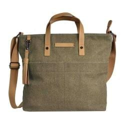 Women's Sherpani Faith Ethos Waxed Canvas Satchel Fern