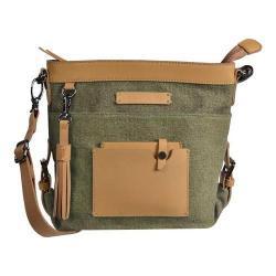 Women's Sherpani Luna Crossbody Bag Fern Waxed Canvas/Leather
