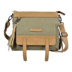 Women's Sherpani Willow Cross Body Bag Fern Waxed Canvas/Leather