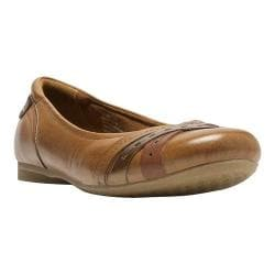 Women's Rockport Cobb Hill Ella Flat Tan Full Grain Leather
