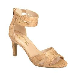 Women's A2 by Aerosoles Proclamation Ankle Strap Heel Cork Combo Faux Cork