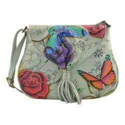 Women's ANNA by Anuschka Hand Painted Flap Hobo 8286 Floral Paradise|https://ak1.ostkcdn.com/images/products/182/491/P22054920.jpg?impolicy=medium