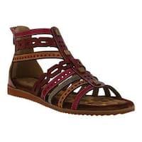 Women's L'Artiste by Spring Step Anjula Gladiator Sandal Bordeaux Multi Leather