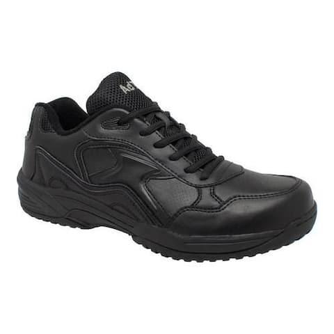 Men's AdTec 9644 Uniform Composite Toe Work Shoe Black Leather