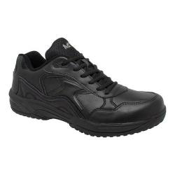 Men's AdTec 9644 Uniform Composite Toe Work Shoe Black Leather