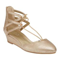 Women's Kenneth Cole Reaction Why Not Ghillie Flat Gold Polyurethane
