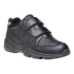Men's Propet Stability Walker Strap Shoe Black Full Grain Leather