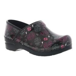 Women's Sanita Clogs Cadyna Professional Closed Back Clog Black Printed Patent Leather