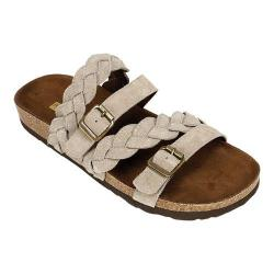 Women's White Mountain Holland Slide Light Taupe Silky Suede