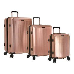 Anne Klein Dubai 3-Piece Hardside Luggage Set Rose Gold