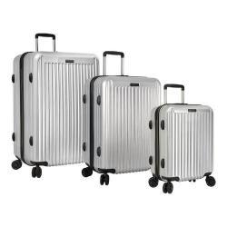 Anne Klein Dubai 3-Piece Hardside Luggage Set Silver