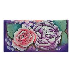 Women's Anuschka Check Book Cover Lush Lilac