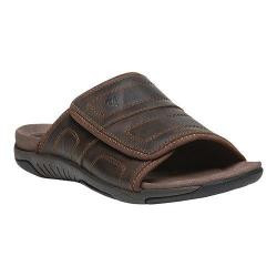 Men's Propet Hatterus Adjustable Strap Slide Brown Full Grain Leather