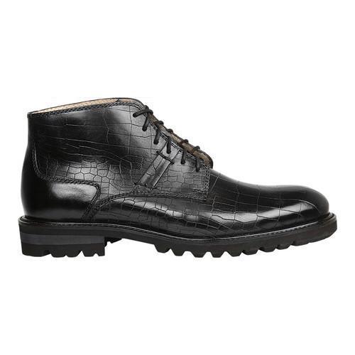 Men's GBX Breccan Chukka Boot Black Leather - Thumbnail 1