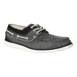 Men's GBX Eastern Boat Shoe Black Wash Canvas