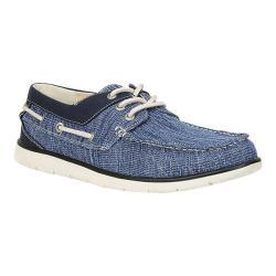 Men's GBX Eastern Boat Shoe Blue Wash Canvas