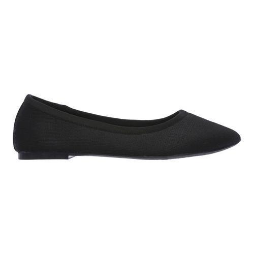 Women's Skechers Cleo Sass Ballet Flat Black - Thumbnail 1