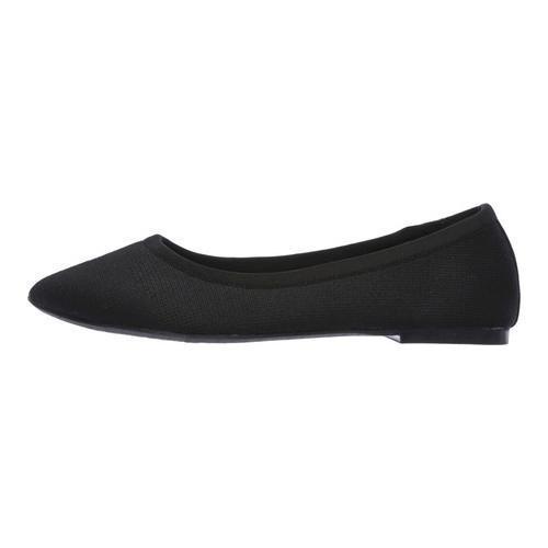 Women's Skechers Cleo Sass Ballet Flat Black - Thumbnail 2