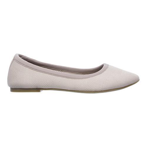 Women's Skechers Cleo Sass Ballet Flat Taupe - Thumbnail 1