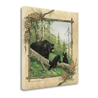 Black Bears IV By Anita Phillips,  Gallery Wrap Canvas
