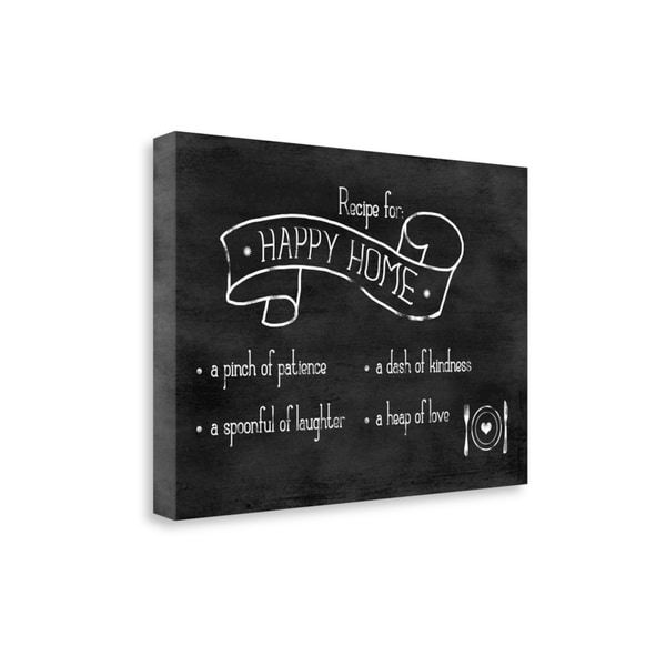 Shop Recipe For Happy Home By Anna Quach Gallery Wrap Canvas Free