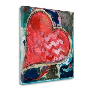 Stitched Red Heart II By Denise Braun,  Gallery Wrap Canvas