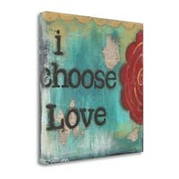 I Choose Love By Cassandra Cushman,  Gallery Wrap Canvas