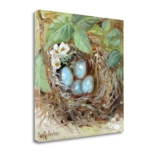 The Little Nest Of Eggs By Cheri Wollenberg,  Gallery Wrap Canvas